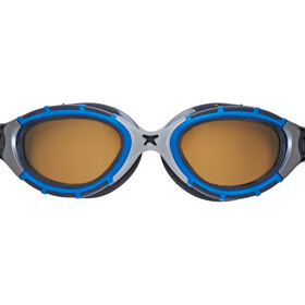 Zoggs Predator Flex Polarized Ultra Reactor Gafas S, blue/metallic silver/copper